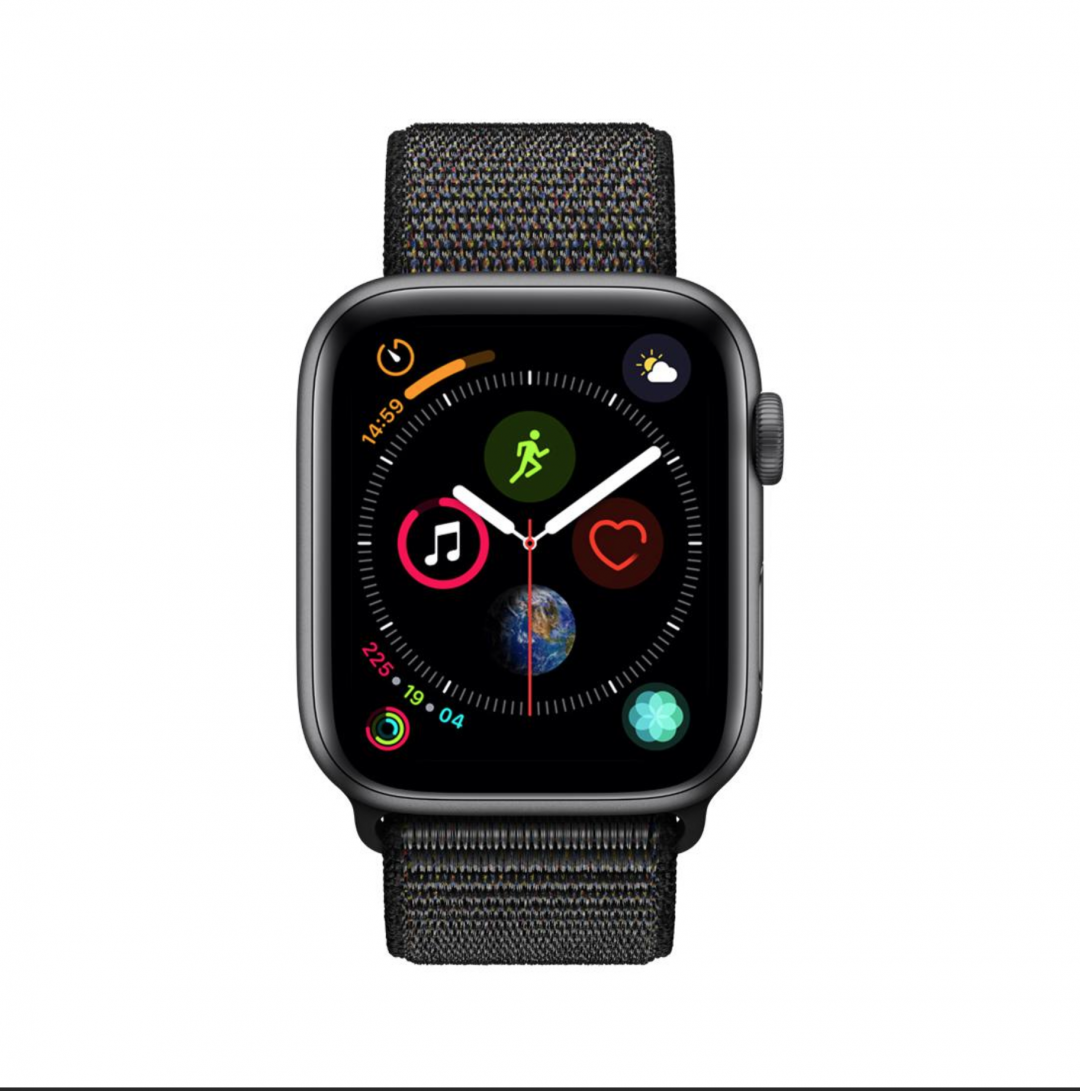 Apple Watch Series 4 GPS, 40mm Space Gray Aluminum Case with Black Sport Loop $325.00