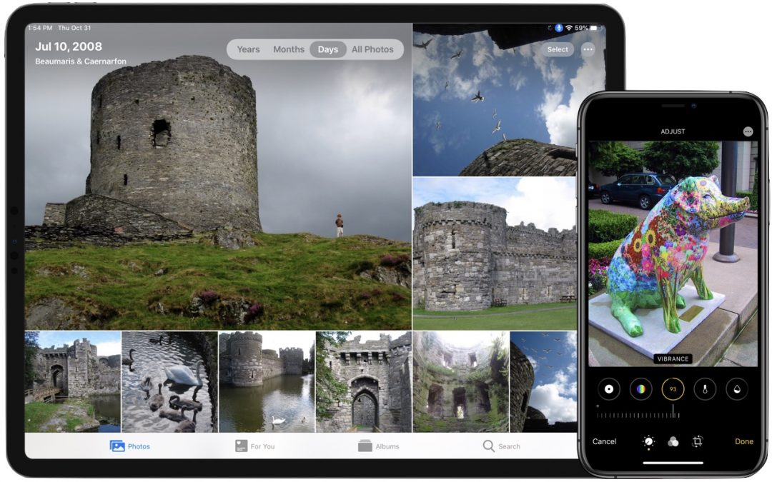 New Organization and Editing in Photos in iOS 13 and iPadOS 13